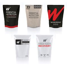 W Nutrition Sports Packaging by Daniel Cohen, via Behance