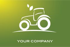 Green Tractor Logo For Agriculture Business Web Design, Logo Design, Tractor Logo, Agriculture Business, Farm Logo, Print Logo, Graphic Design Inspiration, Tractors, Signage