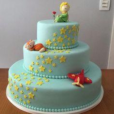 "Képtalálat a következőre: ""the little prince cake"" The Little Prince Theme, Little Prince Party, Just Cakes, Cakes And More, Fondant Cakes, Cupcake Cakes, Prince Birthday Theme, Decors Pate A Sucre, Prince Cake"