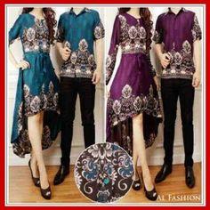 Busana sarimbit batik Torino CP KM208 Antara, Muslim, Couples, Blazer, Floral, Skirts, Outfits, Album, Fashion