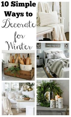 10 simple ways to decorate for winter. 10 simple ways to decorate for winter. 10 simple ways to decorate for winter. 10 simple ways to decorate for winter. Winter Home Decor, Easy Home Decor, Cheap Home Decor, Winter Decorations, Winter House, Holiday Decor, Country Furniture, Country Decor, Farmhouse Decor