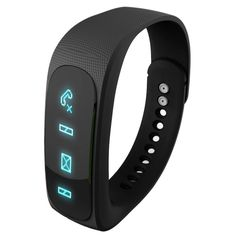 [$18.11] E02 Bluetooth 4.0 Smart Sports Bracelet , Support Camera Remote / Video Remote / Sport Tracking / Sleep Tracking / Watch Function, etc(Black)