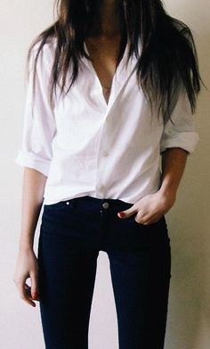 black denim & white shirt △@BIBIJOUX