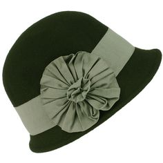 Two toned cloche hat