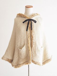 Ank Rouge Fur Cape Coat Ribbon Hime gyaru Sweet street Lolita Kawaii Japan #AnkRouge #Cape #Sweetstreetlolita