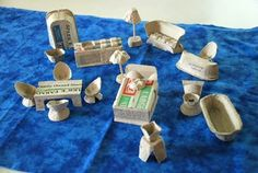 egg carton doll (polly pocket?) furniture, let your child help, or at least paint (also see http://familyfun.go.com/crafts/carton-furniture-workshop-1001221/)