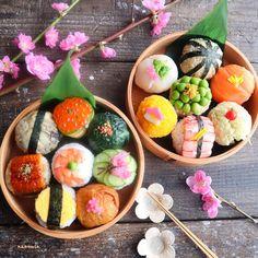 Sushi Go, Sushi Cake, Japanese Street Food, Japanese Food, Kinds Of Sushi, Food Therapy, Sushi Recipes, Food Decoration, Food Goals