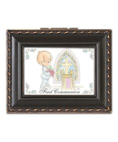 Another great find on #zulily! Black 'First Communion' Music Box #zulilyfinds