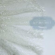 Ruban dentelle guipure de polyester 19cm