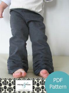 PleatBottom Pants pattern and tutorial PDF 12m5T door heidiandfinn, $6.95