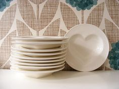 Just unpacked these gorgeous n atural stoneware heart shaped bowls. They are fired at a lower temperature with a clear glaze, which is biod. Heart Shaped Bowls, New Heart, August 2013, Love To Shop, Heart Shapes, Stoneware, Shops, Diy, Decor
