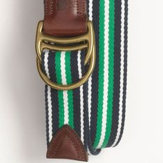 This woven belt from Brook's Brothers is a sure winner for the preppy dad.  This Father's Day get him some classic sporty style.