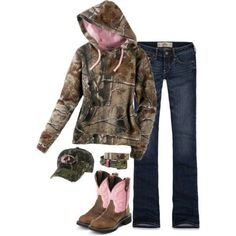 OK - i'm just saying whoever put this together, you did a mossy oak hat and realtree hoodie. I don't mix my camos! LOL