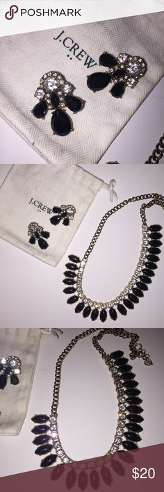 J Crew Statement Necklace & Statement Earrings Set Lovely set of earrings and necklace. It's a great way to spice up an outfit! J. Crew Jewelry Necklaces
