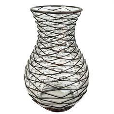 Three Hands Tall Glass and Wire Vase #VonMaur #ThreeHands #HomeDecor