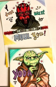 A personal favorite from my Etsy shop https://www.etsy.com/ca/listing/584025121/supe-asorable-star-wars-yoda-and-darth