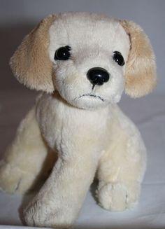 "Nintendogs Lab Dog Plush Yellow Labrador Puppy Head Move Rotates 6"" Stuffed Toy"