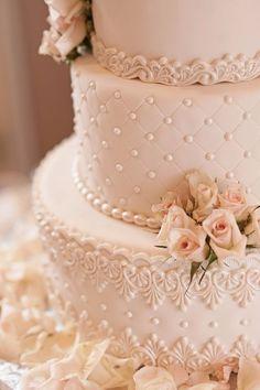 O bolo de casamento - em três andares