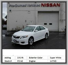 2011 Toyota Camry SE Sedan  Front Reading Lamps, L4, Power Steering, Leather Steering Wheel, Remote Trunk Release, Brake Assist, Bucket Seats, Rear Head Air Bag, Child Safety Locks, Intermittent Wipers, Pass-Through Rear Seat, Tires - Rear Performance, Am/Fm Stereo, Stability Control, Tires - Front Performance, Power Mirror(S), A/C, 2.5L, Keyless Entry, Adjustable Steering Wheel, Temporary Spare Tire, Automatic Headlights, Power Driver Seat