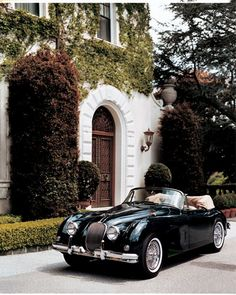 Tumblr - love the car and love the house behind it.