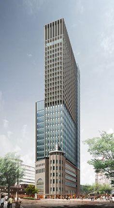 Construction Design, Under Construction, Amazing Architecture, Art And Architecture, High Rise Building, Future City, Condominium, Kobe, Skyscraper