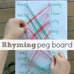 Rhyming Peg Board {Learning After School}