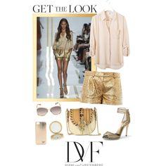 #GetTheLook - Diane Von Furstenberg - #gold #dvf