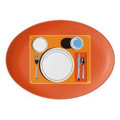 Placemat setting platter