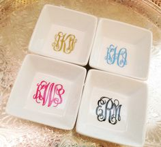 Monogrammed Ring Dish...such a cute lil' gift!