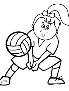 Volleyball Coloring Pages For Kids