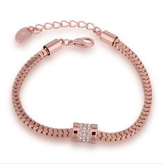 findout 14K rose gold plated titanium steel Swiss Diamond Daisy flower anklet /bracelets for women girls(f989) M143ZlRk7Q