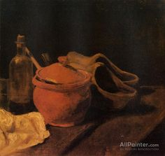 Vincent Van Gogh Still Life With Earthenware, Bottle And Clogs oil painting reproductions for sale