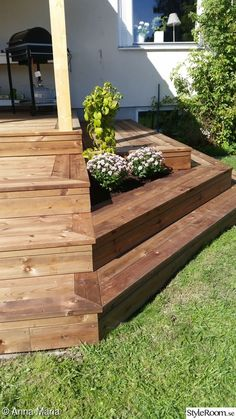 Big Deck, Deck Pictures, Deck Stairs, Outdoor Pergola, Pool Decks, Garden Bridge, Outdoor Gardens, Home Improvement, Porch