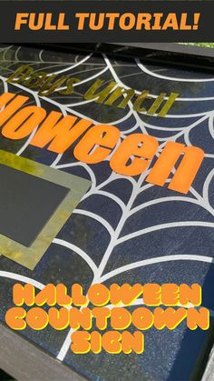 Halloween is just around the corner, and we are way too excited! What better way to get hyped for spooky season than to create your very own DIY Halloween countdown sign?! In this project, we will walk you through how to incorporate vinyl and chalkboard paint into your resin sign. Never forget when your favorite holidays are again, because we are confident that you will want a custom sign for each! #resin #epoxy #epoxyresin #diycrafts