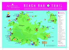 Large detailed tourist map of Antigua and Barbuda Antigua