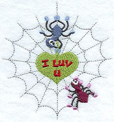 I luv u spiders embroidered baby bib by MorningTempest on Etsy, $16.25