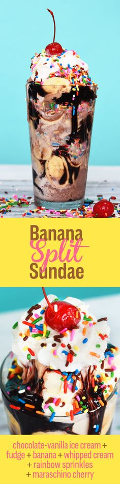 7 Insanely Delicious Sundaes You Need To Eat Before Summer Is Over Hey the kids are poolside and waiting for their Banana Split Sundae. This is my all time favourite ice cream concoction. Ice Cream Treats, Ice Cream Desserts, Ice Cream Party, Frozen Desserts, Ice Cream Recipes, Frozen Treats, Gelato, Cream And Fudge, Fudge Sauce