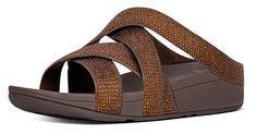 #FitFlop Fitness Schuhe Sandalen - Slinky Rokkit Criss-Cross, Slide, braun. Clogs, Fitflop, Criss Cross, Sneaker, Sandals, Fitness, Fashion, Comfortable Sandals, Shoes Sandals