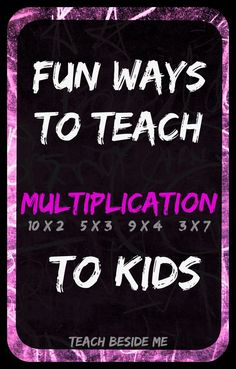 Are you struggling to teach multiplication to your kids or students? Multiplication can really get tedious, but kids just NEED to learn it. Today I have a bunch of fun ways to teach multiplication to Math Activities For Kids, Math For Kids, Fun Math, Math Resources, Kids Fun, Learning Multiplication, Teaching Math, Array Multiplication, Teaching Division