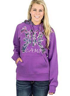 Moon Shine Camo Purple 'Moon Shine' Pullover Hoodie - Plus Too Muddy Girl Camo, Pink Camouflage, Fall Is Here, Pink Girl, Pink Purple, Hoodies, Sweatshirts, Graphic Sweatshirt, Lifestyle