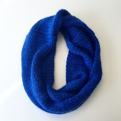 Cobalt blue infinity scarf Knitted infinity scarf! Hollister Accessories Scarves & Wraps