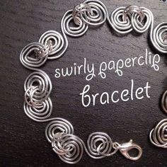 Swirly Paperclip Bracelet