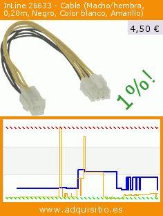 InLine 26633 - Cable (Macho/hembra, 0,20m, Negro, Color blanco, Amarillo) (Electrónica). Baja 50%! Precio actual 4,50 €, el precio anterior fue de 8,95 €. https://www.adquisitio.es/inline/26633-malefemale-8pin
