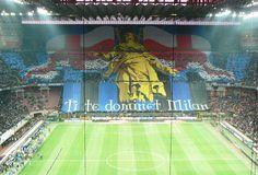 Inter's Curva Nord, San Siro I Want To Travel, Football Team, Soccer Teams, Baseball Field, Signage, Derby, Athlete, Basketball Court, World
