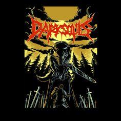 Dark Souls: Great Grey Wolf #Sif heavy metal style t-shirt.