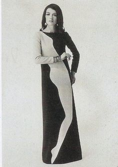 POPart Fashion. Warhol influenced fashion, and Yves Saint Laurent certainly went down the pop art road with his Mondrian dress and the black and white block sheaths he introduced in the early 1960s.Brightly coloured large-scale geometric repeats were favourites for both dress and furnishing fabrics.