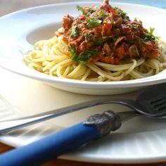 Spagetti bolognese med tunfisk