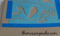 How I Made Fancy Burlap Canvas Wall Art In Five Minutes