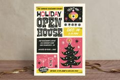 Retro Swank Poster Holiday Party Invitations by Ga...   Minted