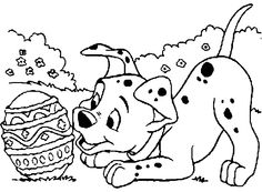 Dogs Party Bone Coloring Page